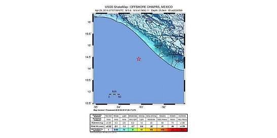 Un sismo de 5.6 sacudió la costa de México