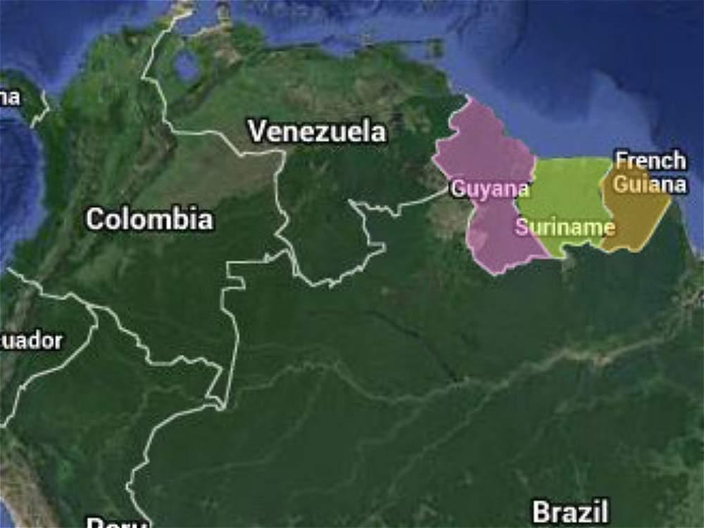 Guyana Surinam Y La Guayana Francesa Archivo Digital De
