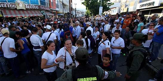 Unos 35.000 venezolanos utilizaron el 'corredor humanitario'