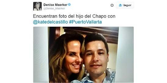 Difunden foto de Kate del Castillo con hijo de 'El Chapo'