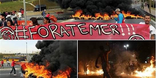 En imágenes: disturbios en Brasil por protestas en favor de Rousseff