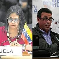 Canciller venezolana denuncia a Capriles por 'falsificar documento'