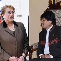 Morales invita a Bachelet a visitar aguas fronterizas en litigio