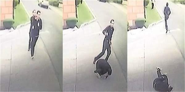Cámaras de seguridad captaron el momento en el cual Bermúdez fue asesinado.