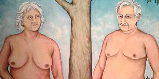 Pintura que muestra a Pepe Mujica desnudo desata polémica en Uruguay