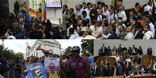 Fotos: momentos de tensión durante la Asamblea en Venezuela