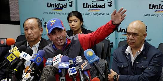 Capriles propone revocatorio como único punto en próxima reunión