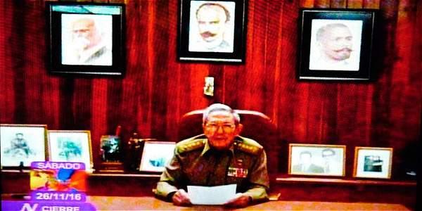 La alocución en donde se anunció la muerte de Fidel Castro