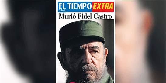 Descargue aquí el extra de EL TIEMPO sobre la muerte de Castro