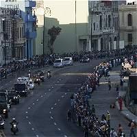 El multitudinario recorrido con las cenizas de Fidel Castro en La Habana