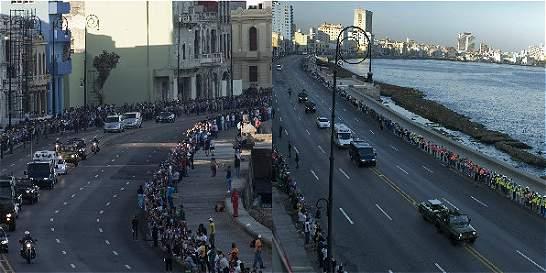 Los restos de Fidel Castro ya van en caravana a Santiago de Cuba