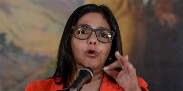 Delcy Rodríguez, canciller de Venezuela, ha expuesto los argumentos de su país para permanecer en el bloque.