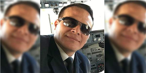 Miguel Quiroga, piloto del avión accidentado, quien también fue capitán de la Fuerza Aérea Boliviana.