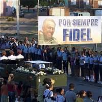 Cuba rinde homenaje a Fidel Castro con mensaje de resistencia a Trump