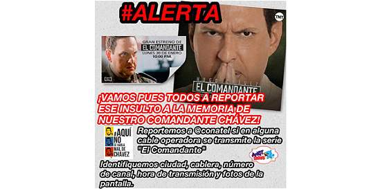 Gobierno de Venezuela censura la serie de Chávez, 'El Comandante'