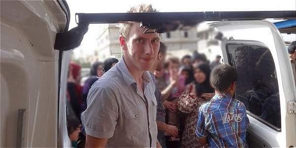 Peter Kassing, de 26 años, fue secuestrado en octubre de 2013, cuando trabajaba en Siria.