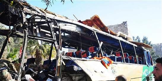 Nueve muertos y 20 heridos en un atentado en el centro de Damasco