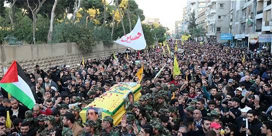 Hezbolá realiza imponente funeral a su líder tras ataque en Siria