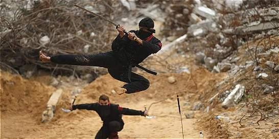 En fotos: el grupo de ninjas palestinos de la Franja de Gaza