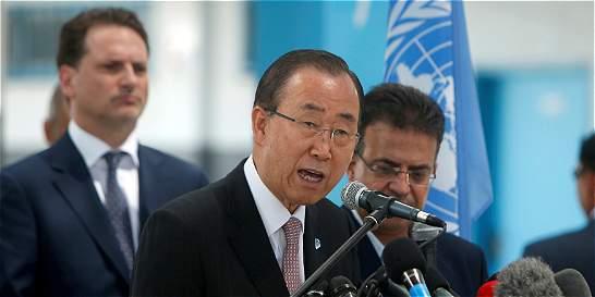 Ban Ki-moon dice en Gaza que bloqueo israelí es un