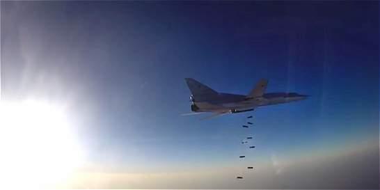 Bombarderos rusos atacan desde Irán posiciones yihadistas en Siria