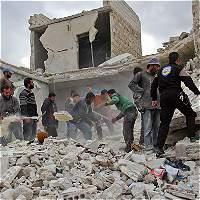 Régimen sirio vuelve a bombardear Alepo y Rusia da su beneplácito