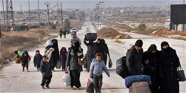 Unos 16.000 civiles han huido de las zonas del este de Alepo conquistadas por el Ejército sirio en los últimos días.