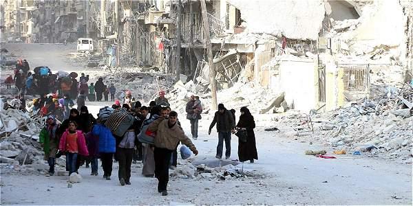 Las fuerzas del régimen asedian el este de Alepo desde julio. Alrededor de 250.000 habitantes vivían en esta ciudad en la miseria más absoluta, sin casi alimentos, electricidad ni medicamentos.