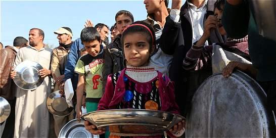 Unos 350.000 niños están atrapados en oeste de Mosul