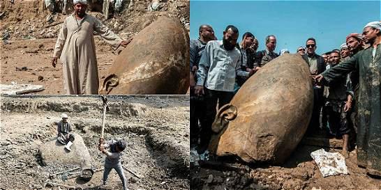 Descubren gigantescas estatuas de faraones egipcios en El Cairo