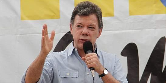 'Por ahora no hay personas afectadas': presidente Santos