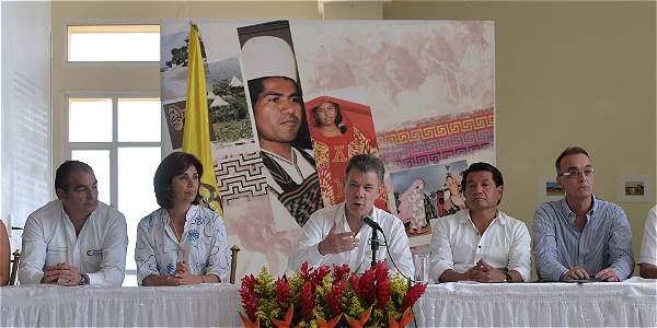 El presidente Santos habló desde Riohacha, Guajira.