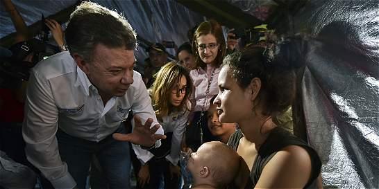 En medio de crisis con Venezuela, presidente Santos visita La Guajira