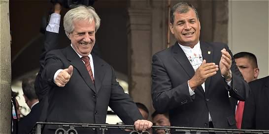 El papel de Correa y Tabaré Vásquez en el acuerdo logrado en Quito