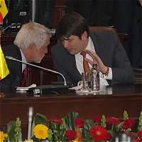 En secreto / Saludo de Peñalosa y el gabinete al Concejo