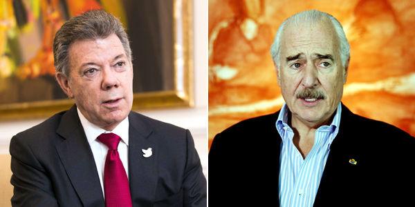 La principal apuesta política del presidente Juan Manuel Santos (izq.) es la terminación del conflicto. El expresidente Andrés Pastrana (der.) lideró los fallidos diálogos del Caguán con las Farc.