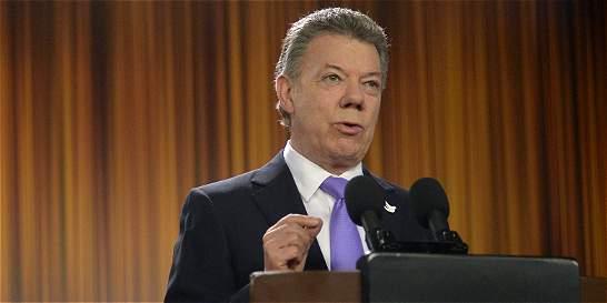 'Vamos a ganarle la guerra al crimen organizado': Santos