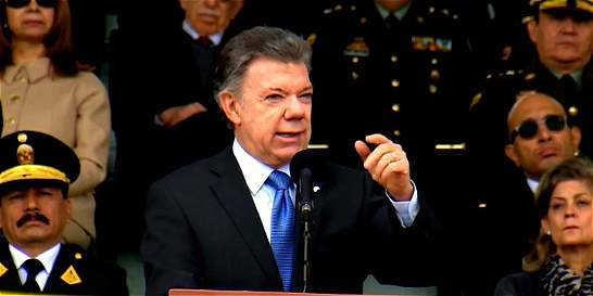 'La paz es la victoria de las Fuerzas Armadas de Colombia': Santos
