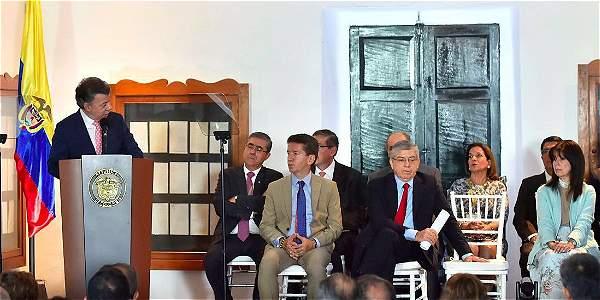 Magistrados son pieza fundamental del andamiaje para la paz: Santos
