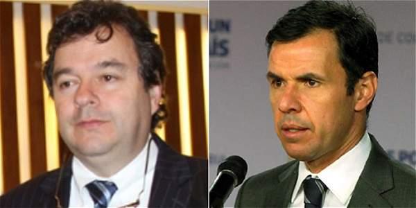Carlos Negret, secretario general del Partido de 'la U', y Guillermo Rivera, viceministro del Interior.