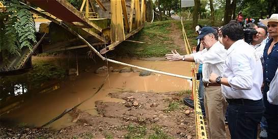 Santos ordena Agilizar obras sobre Río Charte, en Casanare