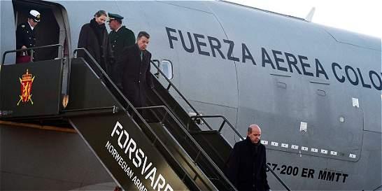 Así se ha reportado en redes sociales la llegada de Santos a Noruega