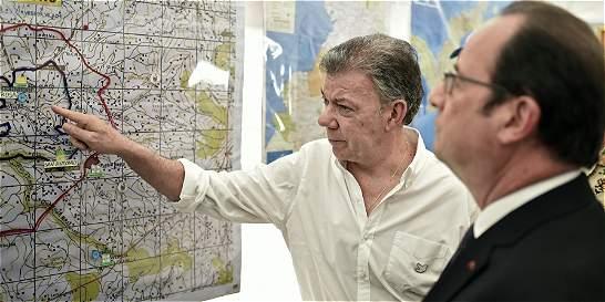 Santos y Hollande visitaron la zona veredal en Caldono, en el Cauca