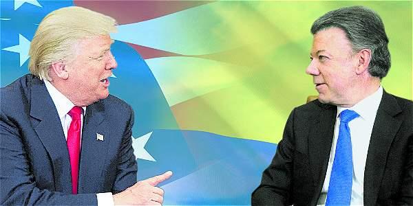 Está previsto que el presidente Juan Manuel Santos hable hoy con el mandatario estadounidense, Donald Trump.