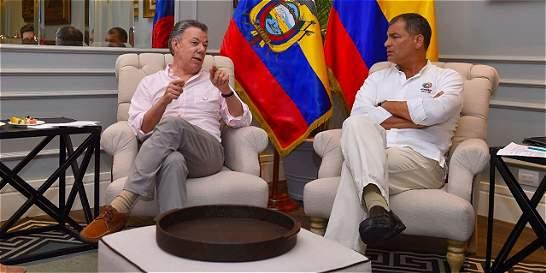 Rafael Correa ratifica su apoyo al proceso de paz en Colombia