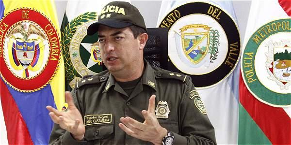 El general Fabio Castañeda fue comandante de la Policía Metropolitana de Cali.