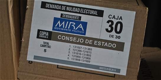 Mira demandó declaratoria de elección del Senado