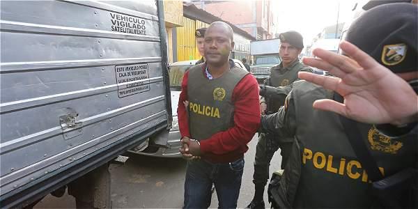 Imágen del intendente Caicedo al momento en que se hace efectiva su captura.