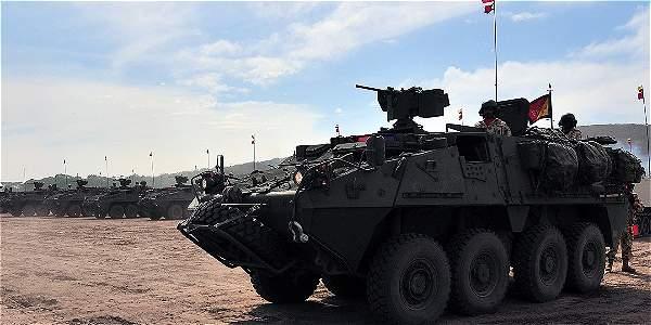 Los tanques de guerra tuvieron un costo de 84 millones de dólares. Tienen equipos para erradicar minas antipersonas.