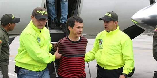 'Porrón' ya está en Bogotá para ser recluido en La Picota